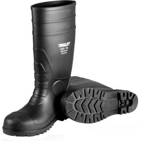 31151.10 Tingley; 31151 Economy PVC Knee Boots ,Size 10, Black, Plain Toe, Cleated Outsole