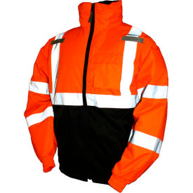 J26119.LG Tingley; J26119 Bomber II Hooded Jacket, Fluorescent Orange/Red/Black, Large