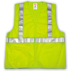 V70622.L-XL Tingley; V70622 Job Sight; Class 2 Vest, Fluorescent Lime, Polyester Mesh, L/XL