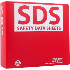 "zing eco ghs-sds binder, 3.0"" ring, recycled poly, 6032 ZING Eco GHS-SDS Binder, 3.0"" Ring, Recycled Poly, 6032"