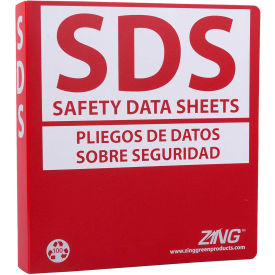 "zing eco ghs-sds binder (english/spanish), 1.5"" ring, recycled poly, 6033 ZING Eco GHS-SDS Binder (English/Spanish), 1.5"" Ring, Recycled Poly, 6033"