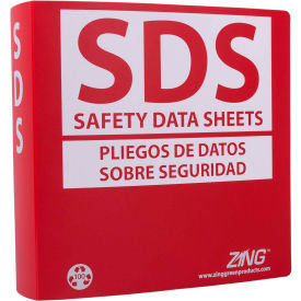 "zing eco ghs-sds binder (english/spanish), 2.5"" ring, recycled poly, 6034 ZING Eco GHS-SDS Binder (English/Spanish), 2.5"" Ring, Recycled Poly, 6034"