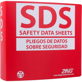 "zing eco ghs-sds binder (english/spanish), 3.0"" ring, recycled poly, 6035 ZING Eco GHS-SDS Binder (English/Spanish), 3.0"" Ring, Recycled Poly, 6035"