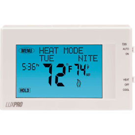 P721UT LUX Low Voltage Digital 7-Day Programmable Thermostat P721UT - 2H/1C Heat Pump 24VAC Touch Screen