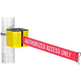 "warehouse wall mount retracta-belt®, yellow, 15l red/white belt, ""authorized access only"" Warehouse Wall Mount Retracta-Belt®, Yellow, 15L Red/White Belt, ""AUTHORIZED ACCESS ONLY"""