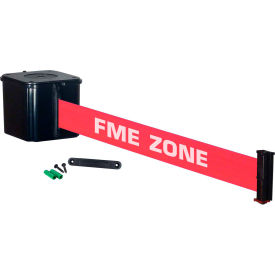 "wall mount retracta-belt® 4"" black, 15l belt, ""fme zone"" Wall Mount Retracta-Belt® 4"" Black, 15L Belt, ""FME ZONE"""