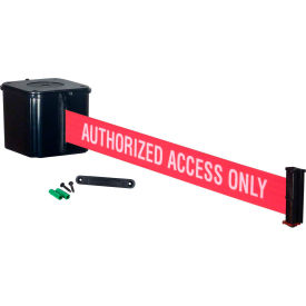 "wall mount retracta-belt® 4"" black, 20l red/white belt, ""authorized access only"" Wall Mount Retracta-Belt® 4"" Black, 20L Red/White Belt, ""AUTHORIZED ACCESS ONLY"""