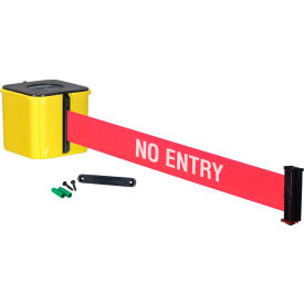 "wall mount retracta-belt® 4"" yellow, 20l red/white belt, ""no entry"" Wall Mount Retracta-Belt® 4"" Yellow, 20L Red/White Belt, ""NO ENTRY"""