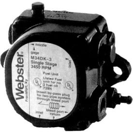 webster® m series single stage pump m34dk-3, 3450 rpm, 3 gph at 100 psi Webster® M Series Single Stage Pump M34DK-3, 3450 RPM, 3 GPH at 100 psi