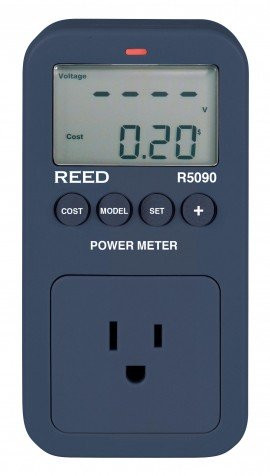 Power Meter R5090, Reed Instruments, Power Meter, Kitchen Appliances, Appliance Meter, Testing Equipment, Measuring Equipment