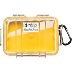 "1020YP Pelican™ (1020) Micro Case, 6 13/16""L x 4 3/4""W x 2 1/8""D, Yellow, 1/Each"