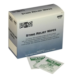 Sting Relief Wipes (100/Box)
