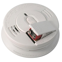Kidde Interconnectable AC/DC Smoke Alarm w/ Battery Backup, Front-Loading Battery Door, Smart Hush, Silent Hush, & Alarm Memory (Ionization)