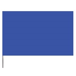 "Presco PresGlo Marking Flags, 21"", Blue Glo, 1000/Case"