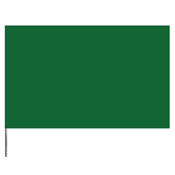 "Presco Standard Marking Flags, 21"", Green, 1000/Case"