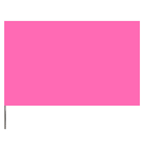 "Presco PresGlo Marking Flags, 21"", Pink Glo, 1000/Case"