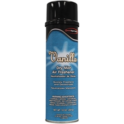 339001QC QuestSpecialty® Dry Mist Air Freshener, Vanilla, 10 oz Aerosol, 12/Case