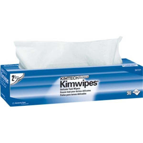 "34721KC Kimtech Science* Kimwipes* Wipers, 2-Ply, 14 11/16"" x 16 19/32"", White, 15 Boxes/90 Each"