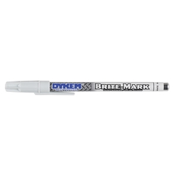 41008DY ITW ProBrands™ Brite-Mark® Permanent Paint Marker, Fine Tip, White, 12/Case
