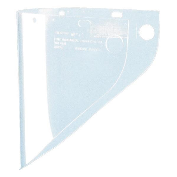 "Fibre-Metal® Face Shield, Extended View, 9 3/4"" x 19"" (Fits F400 Frame)"