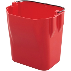 "5261RDTCP Trust® Dirty Water Bucket (For 5221YLTCP), 11 5/8""H x 15 15/16""W x 22""D, Red, 1/Each"