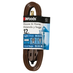 Cube Tap Extension Cord, 12, Brown
