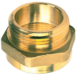 "711BR Female x Male Brass Hexagon Adapter, 1 1/2"" PCT x 1 1/2"" NST, 1/Each"