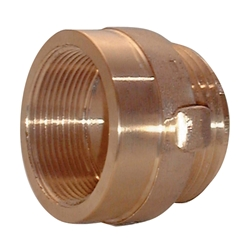 "713BR Female x Male Brass Hexagon Adapter, 1 1/2"" NST x 1 1/2"" NPT, 1/Each"