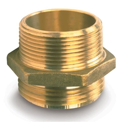 "714BR Female x Male Brass Hexagon Adapter, 1 1/2"" NPSH x 1 1/2"" NST, 1/Each"