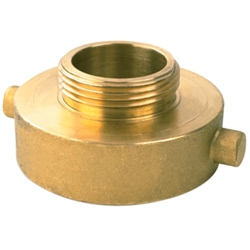 "721BR Female x Male Brass Reducer, 2 1/2"" NST x 1 1/2"" NST, 1/Each"