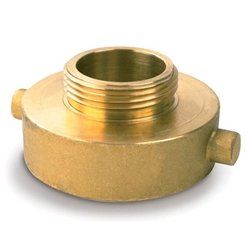 "724BR Female x Male Brass Reducer, 2 1/2"" NST x 3/4"" GHT, 1/Each"