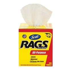 75260KC Scott® Rags In A Box, White, 8 Boxes/200 Each