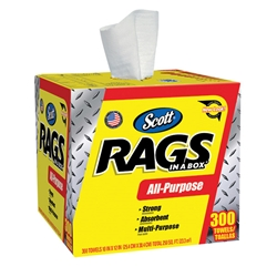 75600KC Scott® Rags In A Box, White, 300/Box