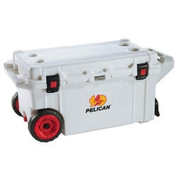 80QWWHP Pelican™ Elite Cooler (Wheeled) w/ Trolley Handle, 80 qt, White, 1/Each