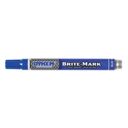 84001DY ITW ProBrands™ Brite-Mark® Permanent Paint Markers, Medium Tip, Blue, 12/Case