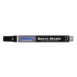 84002DY ITW ProBrands™ Brite-Mark® Permanent Paint Markers, Medium Tip, Black, 12/Case