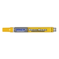 84004DY ITW ProBrands™ Brite-Mark® Permanent Paint Markers, Medium Tip, Yellow, 12/Case
