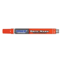 84005DY ITW ProBrands™ Brite-Mark® Permanent Paint Markers, Medium Tip, Orange, 12/Case