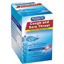 Cherry Menthol Cough Drops, 50/Box