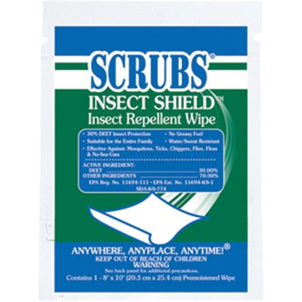 91401DY ITW ProBrands™ Scrubs® Insect Shield™ Insect Repellent Wipes