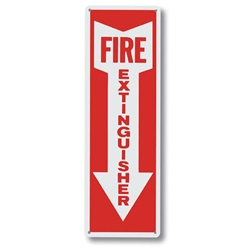 "2108LABR Brady® ""Fire Extinguisher"" w/ Arrow Aluminum Sign"