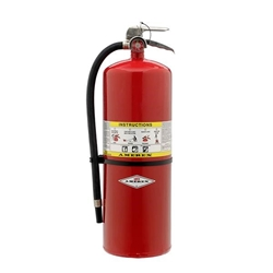 589AX Amerex® 30 lb ABC Compliance Flow Fire Extinguisher w/ Brass Valve & Wall Hook