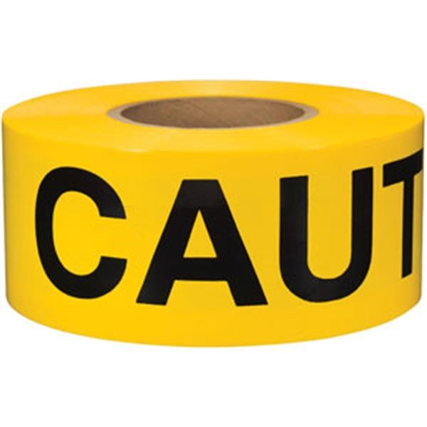 "Presco Barricade Tape, 2 mil, ""Caution Cuidado"", Yellow"
