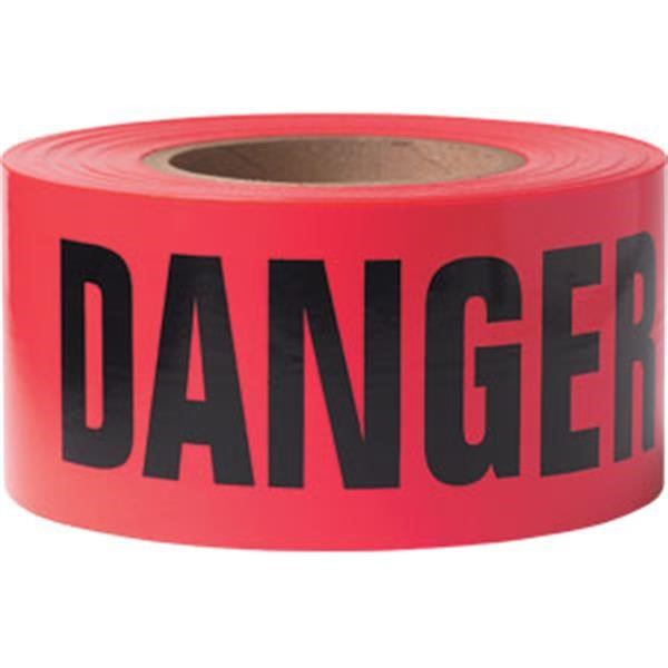 "Presco Barricade Tape, 3 mil, ""Danger"", Red, 8/Case"