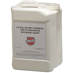 "Buckeye Wet Chemical Class K Recharge Agent, 2.5 Gal, 13""H x 9 1/4""W x 7 1/2""D"