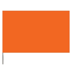 "Presco PresGlo Marking Flags, 21"", Orange Glo, 100/Case"