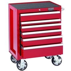 Craftsman Industrial® 5000 Series 6 Drawer Rolling Cart, 26""