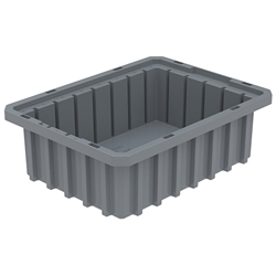 "33103GREYAM Akro-Mils® Akro-Grid Dividable Grid Container, 10 7/8""L x 3 1/2""H x 8 1/4""W, Gray, 1/Each"