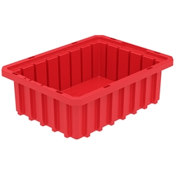 "33103REDAM Akro-Mils® Akro-Grid Dividable Grid Container, 10 7/8""L x 3 1/2""H x 8 1/4""W, Red, 1/Each"