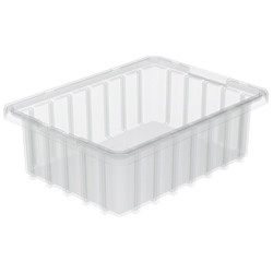 "33103SCLARAM Akro-Mils® Akro-Grid Dividable Grid Container, 10 7/8""L x 3 1/2""H x 8 1/4""W, Clear, 1/Each"